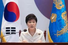 "South Korea's President Park Geun-hye said later that North Korea's nuclear weapons and missiles posed an ""imminent threat"", as tensions rose on the Korean peninsula in the wake of the test last week. Photo: AP"