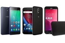 Lenovo Vibe S1; Moto G4 Plus; and Asus Zenfone Zoom (left to right)