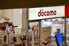 The logo of Japanese mobile giant NTT Docomo is displayed at a shop in Tokyo. Photo: AFP