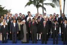 Leaders at a photo-call during the 17th Non-Aligned Summit in Margarita Island, Venezuela, on 17 September. Reuters
