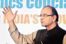 Finance minister Arun Jaitley at SBI Banking and Economic Conclave in Mumbai on Tuesday. Photo: PTI