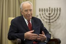 A file photo of Israeli ex-president Shimon Peres. Photo: AFP