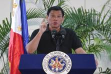 Philippines President Rodrigo Duterte on Friday drew a parallel with his deadly crime war and Hitler's massacre of Jews, as he said he was 'happy to slaughter' millions of drug addicts. Photo: AFP