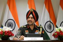 Indian army's director general of military operations Lt. General Ranbir Singh speaks during a media briefing in New Delhi on Thursday. Photo: Reuters
