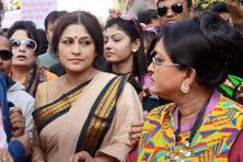 File photo. Widely respected as an actor in West Bengal, the BJP fielded Roopa Ganguly to contest this year's assembly election from the Howrah North constituency. Photo: PTI