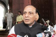 A file photo of home minister Rajnath Singh. Photo: Hindustan Times