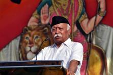 A file photo of RSS chief Mohan Bhagwat. Photo: HT