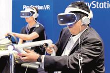 Whatever the first VR mega hit may be, it will most likely use a motion controller. Photo: AFP