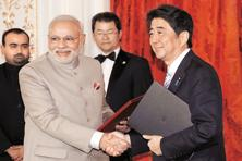 During a visit to Japan in 2014, PM Narendra Modi won a promise from Japanese PM Shinzo Abe for investments to the tune of  3.5 trillion yen (over $33.58 billion) in India. Photo: