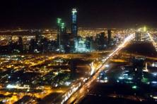 A file photo of Riyadh skyline at night. Photo: AFP