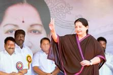 File photo of J. Jayalalithaa. Photo: AFP