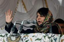 Jammu and Kashmir CM Mehbooba Mufti was speaking to reporters on the sidelines of a function to commemorate the police martyrs near Srinagar. Photo: PTI
