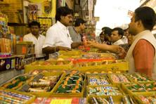 File photo: People buy crackers at Sadar Bazar in Delhi. Photo: Ramesh Pathania/Mint