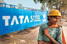 Shares of Tata Steel have surged 60% this year. Photo:Bloomberg
