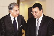 A file photo of Ratan Tata with Cyrus Mistry. Photo: PTI