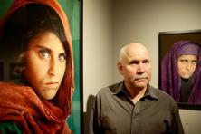 Sharbat Gula was for years an unnamed celebrity after her photograph by Steve McCurry as an Afghan refugee was featured on National Geographic's cover in 1985. Photo: AFP
