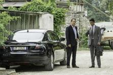 A still featuring actors Tom Hanks (left) and Irrfan Khan from Ron Howard's thriller Inferno.