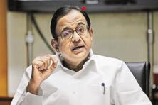 A file photo of former finance minister and Congress leader P. Chidambaram. Photo: Hindustan Times