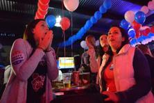 People gather at bars in Mexico City, as US poll results come in, on 8 November 2016. Photo: AFP