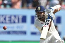 Murali Vijay's century was one of the highlights at the Rajkot Test. Photo: Indranil Mukherjee/AFP