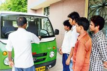 A file photo of Tata Motors' driver training initiative, which is part of its CSR activities.