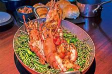 Grilled Whole Lobster at Grill 99
