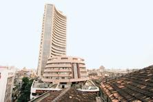 The BSE Sensex rose 0.98% to 26,652.81, but was down 4.61% this month. Photo: Hindustan Times