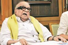 DMK chief M. Karunanidhi has been suffering from allergies for a month. Photo: Reuters