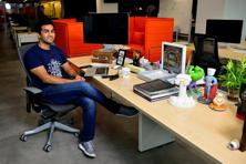 Kavin Mittal at his open-plan desk. Photographs by Pradeep Gaur/Mint