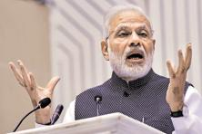 Modi said hydrocarbons will continue to play an important part in India's growth, but the country needs energy that is accessible to the poor as also efficiency in use and energy security. Photo: PTI