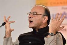Finance minister Arun Jaitley said there will be two point-of-sale machines provided to every village which has a population up to 10,000. Photo: PTI