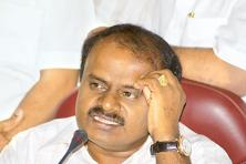 Former Karnataka chief minister H.D. Kumaraswamy. The JD(S) has set a target to win 113 of the 224 assembly seats in the 2018 elections—a tough ask considering the party was reduced to third spot with only 40 seats in the 2013 elections. Photo: Hemant Mishra/Mint