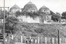 A file photo of the Babri Masjid. Photo: Hindustan Times