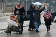 More than 6,000 civilians left rebel-held districts over the past 24 hours. Photo: Reuters
