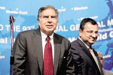 A file photo of Ratan Tata and Cyrus Mistry (right). Photo: PTI