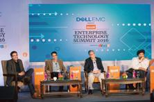 (From left) Ajit Kumar, Sudip Mazumdar, Rajesh Batra, and Jaspreet Bindra. Aniruddha Chowdhury/Mint