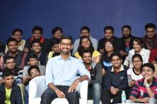 Sundar Pichai addressed an audience of 3,500 students and teachers at his  alma mater IIT Kharagpur on Thursday. Photo: Indranil Bhoumik/Mint