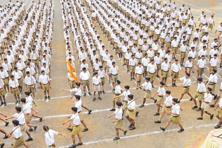The RSS has planned a rally marching at least 5,000 volunteers in honour of Mohan Bhagwat. Photo: HT