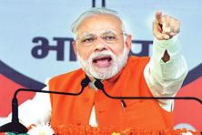 Halfway through his five-year term, Narendra Modi is staring at his biggest electoral challenge since leading the BJP-led National Democratic Alliance to national power in 2014 after back-to-back defeats in 2004 and 2009. Photo: Hindustan Times