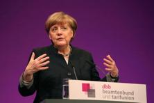 Angela Merkel is seeking to steer early campaign themes her way after 11 years in office that have made investors regard her as a beacon of stability. Photo: AFP