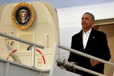 Barack Obama's roundtrip to his Chicago hometown was almost certainly the last one for him before he leaves office in nine days, on 20 January. File photo: Reuters