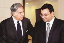 A file photo of Ratan Tata (left) with Cyrus Mistry. Photo: PTI