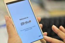 BHIM's screen shows icons to let users send money, receive money and scan a QR (quick response) code to pay. Photo: Priyanka Parashar/Mint