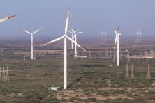 The total wind power potential in India is estimated to be over 30 times the current installed capacity of 27GW, while our solar power potential is expected to grow by about 90 times the current installed capacity of 8GW. Photo: Bloomberg