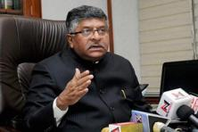 Union minister for communications and information technology Ravi Shankar Prasad. Photo: PTI