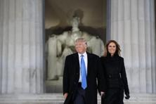 "President-elect Donald Trump (left) and his wife Melania Trump arrive to the ""Make America Great Again Welcome Concert"" at the Lincoln Memorial in Washington on Thursday. Photo: AP"