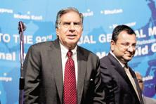 A file photo of Tata Sons chairman emeritus Ratan Tata and ousted chairman Cyrus Mistry. Photo: PTI