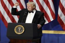 Donald Trump's patriotic fervor set an all-time record for mentions of 'America' or 'American(s)' in an inauguration speech (24 mentions per 1,000 total words) . Photo: AP