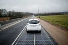 A solar-powered highway in Normandy, France. Photo: Reuters