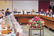Prime Minister Narendra Modi at the all-party meeting held at Parliament House in New Delhi on Monday. Photo: PTI